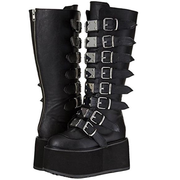 318 Knee Boots Poshmark Shoes Demonia Damned EwqSS8